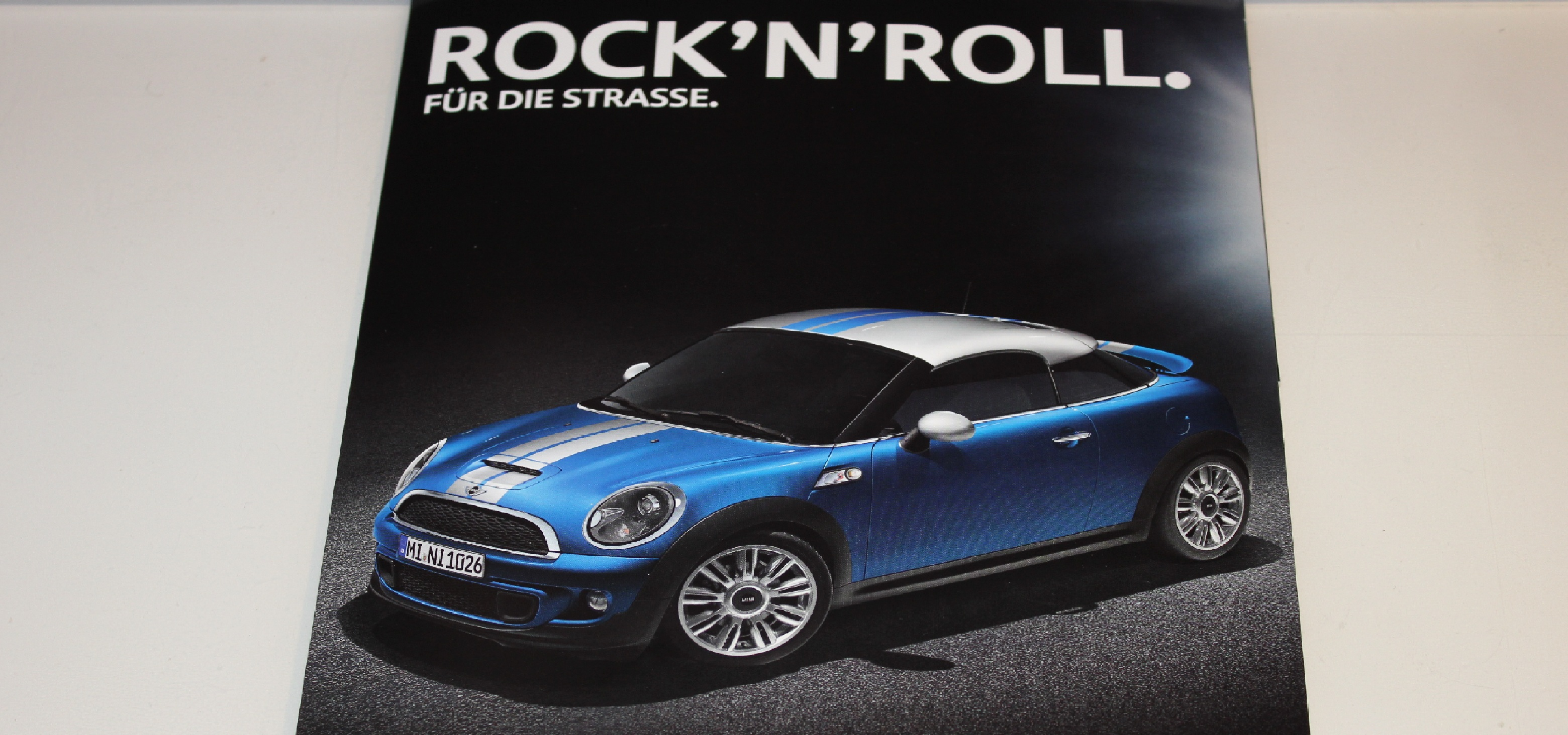 Mini Coupe Rock n Roll Print Werbung