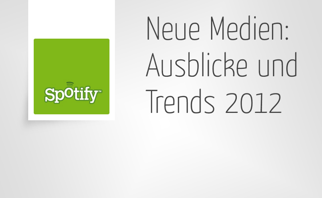 Neue Medien - Ausblicke 2012